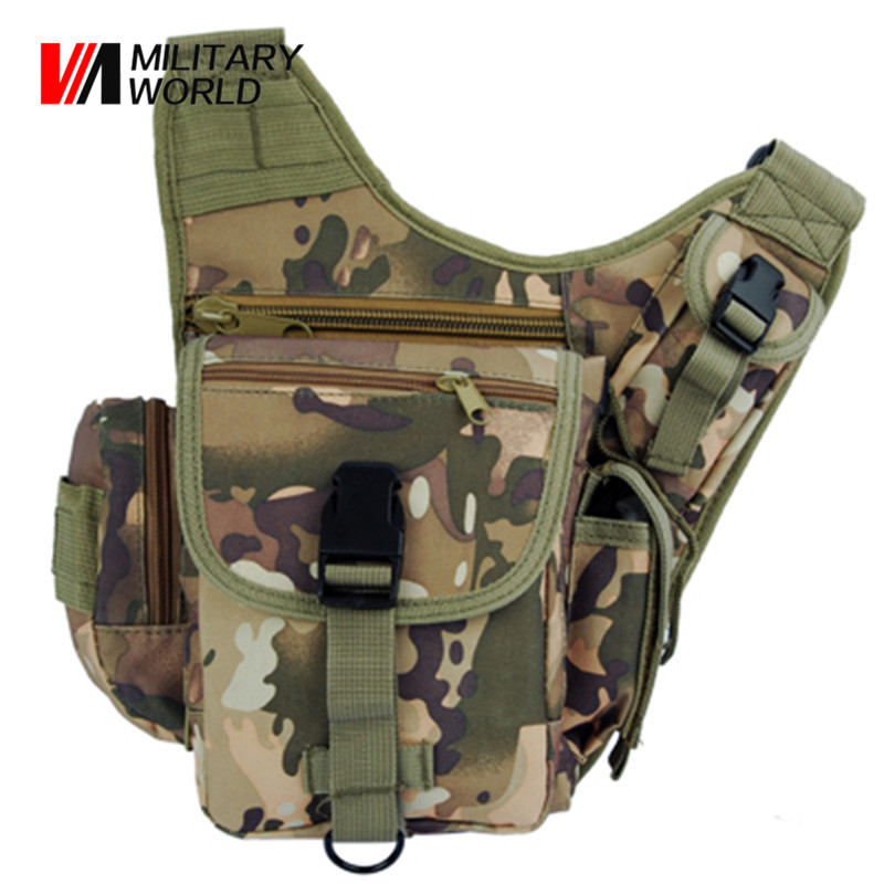 Airsoft Tactical Hunting Shoulder Messenger Bags Camouflage Bag Waterproof 600D Nylon Outdoor Sport Hiking Hunting Waist Pack<br>