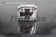 Pazoma Motor Chrome Stop Lights Red Led Motorcycle Custom Iron Cross Maltese Taillamp Brake Light For Harley Choppers