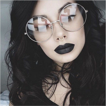 Retro Oversized Round Glasses For Women Brand Designer Transparent Glasses Men Metal Full Frames Glasses Vintage Reading Eyewear