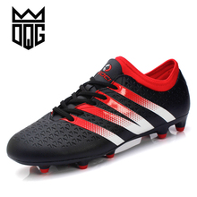 DQG Soccer Boots Men Sport Autumn/Winter Football Boots Men Cheap Football Trainers Yellow/Black Male Outdoor Soccer Shoes