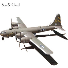 1:47 DIY 3D B29 Superfortress Bomber Plane Paper Model Assemble Hand Work Puzzle Game DIY Kids Toy(China)