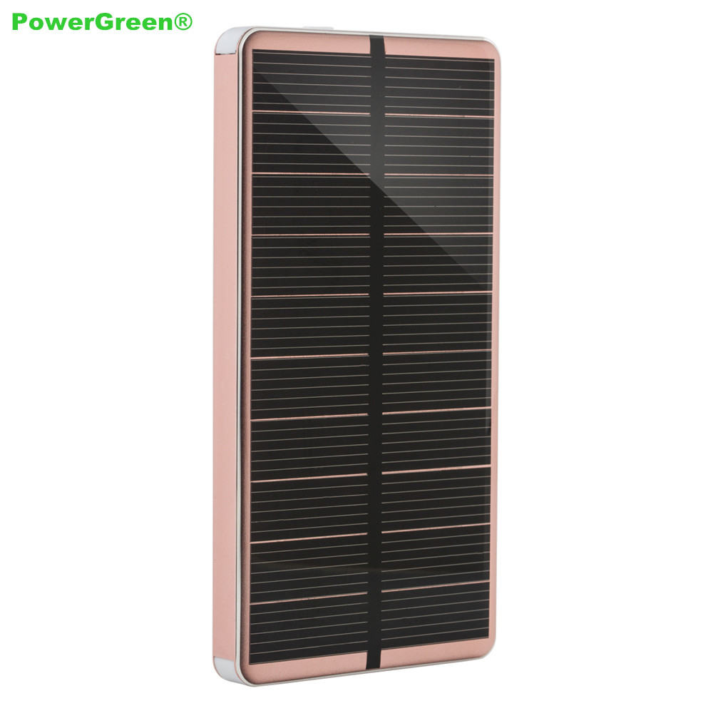 PowerGreen Solar Charger Fast Charging Dual Outputs Flashlight Design Universal 10000mAh Power Bank Mobile Phones  -  HIGHWAY Direct Store store