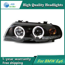 high quality Car styling case for BMW E46 Headlights LED Headlight DRL Lens Double Beam HID Xenon