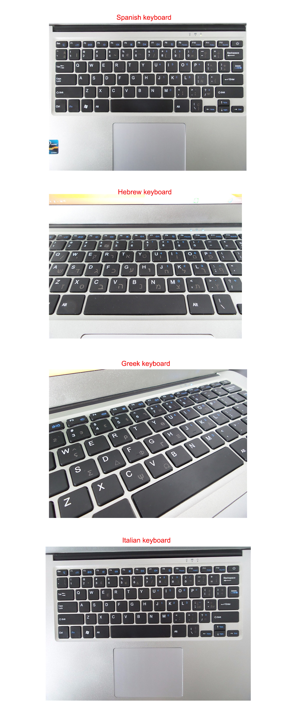 Expandable hard drive 4G RAM 500G HDD 2017 14 inch laptop computer windows 10 system built in camera with wifi