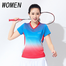 Free shipping new women badminton shirts short sleeved shirts women's sports tennis shirts shirts summer wear fast dry t-shirts