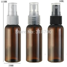 50 x 50ml Amber PET Perfume Bottle, 50cc Brown Mist Spray Bottle, 50ml Fragrance Perfume Plastic Bottle