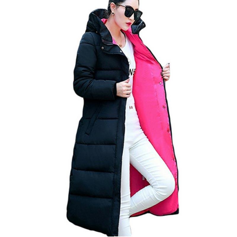 winter jacket women 2017 fashion slim long cotton Hooded padded jacket parka female thicder jacket  winter Warm outerwear QH0251Îäåæäà è àêñåññóàðû<br><br>
