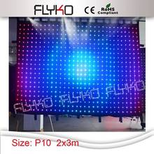 Free shipping 2*3m P10CM china amazing flexible led curtain display sexy videos(China)
