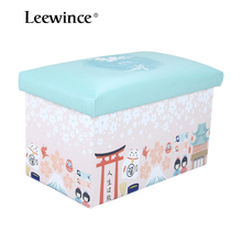 Foldable Storage Ottoman  storage stool Cartoon children's clothing store storage box Footrest Stool