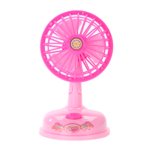 Mini Electronic Fan Toy for Kids Home Appliances Toy Children Cosplay Pretend Play Kitchen Furniture Toy for Girls Pink