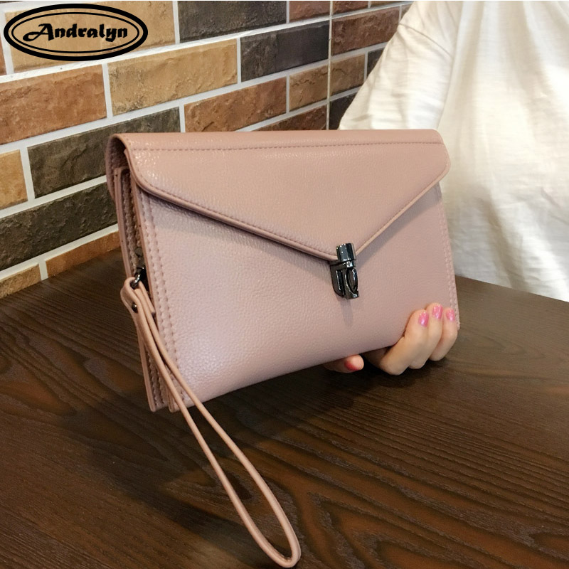 Andralyn Ladies genuine leather day cluthes female fashion personality handbag shoulder bag messenger bag wrist bag<br>