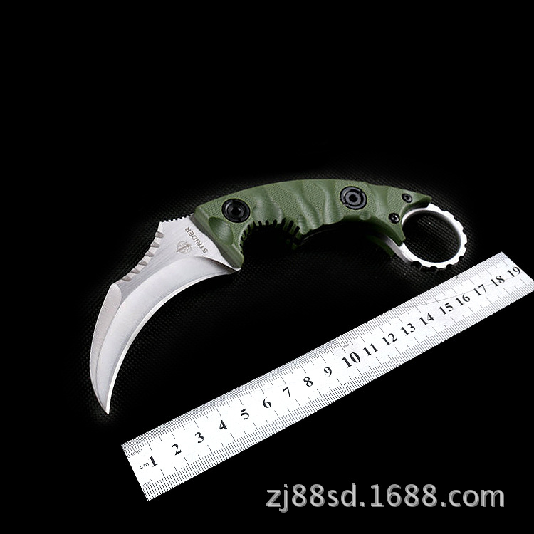 Karambit CS GO New ST D2 Steel Fixed Blade Knife Tactical Utility Camping Hunting Knives G10 Survival Knife 61HRC EDC Tools<br>