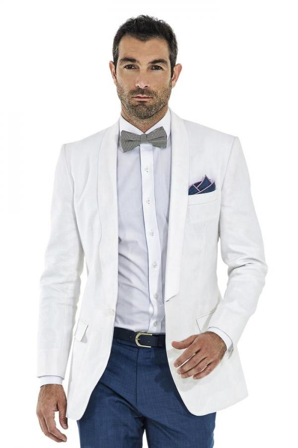 Shawl lapel white men suit summer beach wedding suits for men smart casual best men blazers groomsmen tuxedo jacket+pants