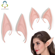 1 Pair Elf Ears fairy Cosplay Accessories Latex Soft Prosthetic False Ear Halloween Party Masks Cos Mask GYH(China)