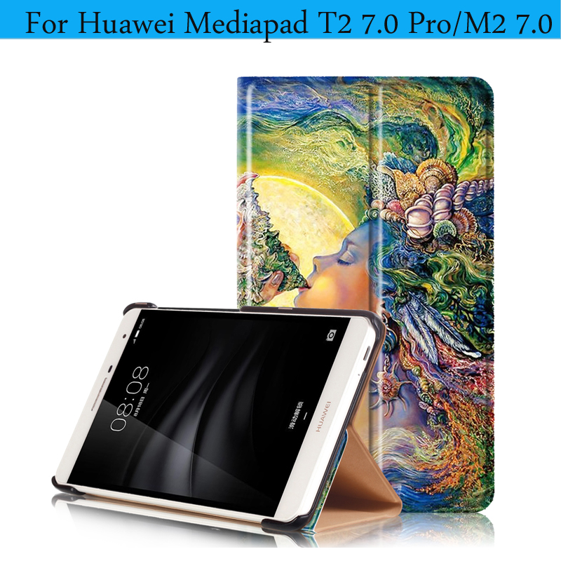 PU Leather Magnetic Smart Cover For Huawei MediaPad T2 7.0 Pro Case Painting Tablet Case for Huawei Mediapad T2 7.0 Pro Cover <br><br>Aliexpress