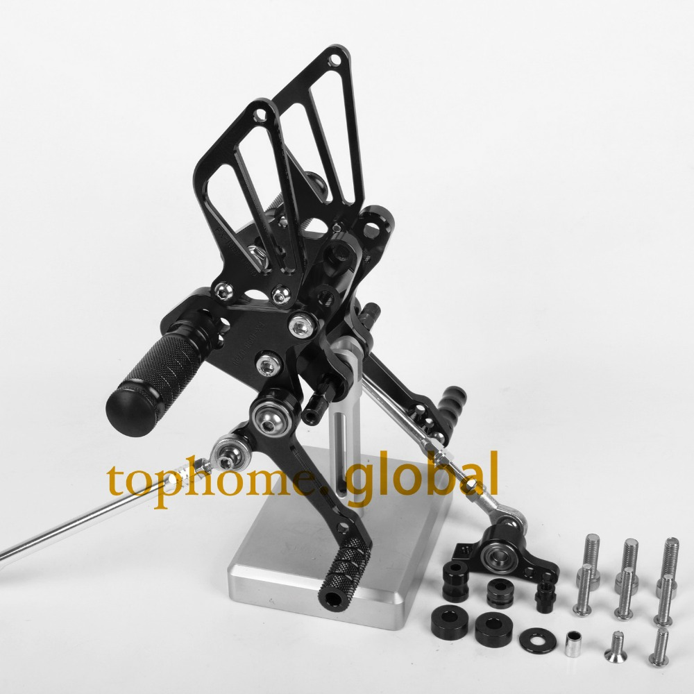 Motorcycle Parts Black CNC Rearsets Foot Pegs Rear Set For DUCATI 848 1098 1098S 1198 1198R<br><br>Aliexpress