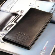 Free shipping,2016  fashion Men genuine cow Leather long  Wallet Pockets ID Card Clutch Cente Bifold Purse , dropshipping WBL19
