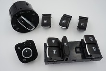 free Headlight Window Mirror Control Switch Button for Volkswagen VW Jetta mk5 golf 5 6 tiguan passat b6 CC GOLF PLUS Rabbit SET(China)