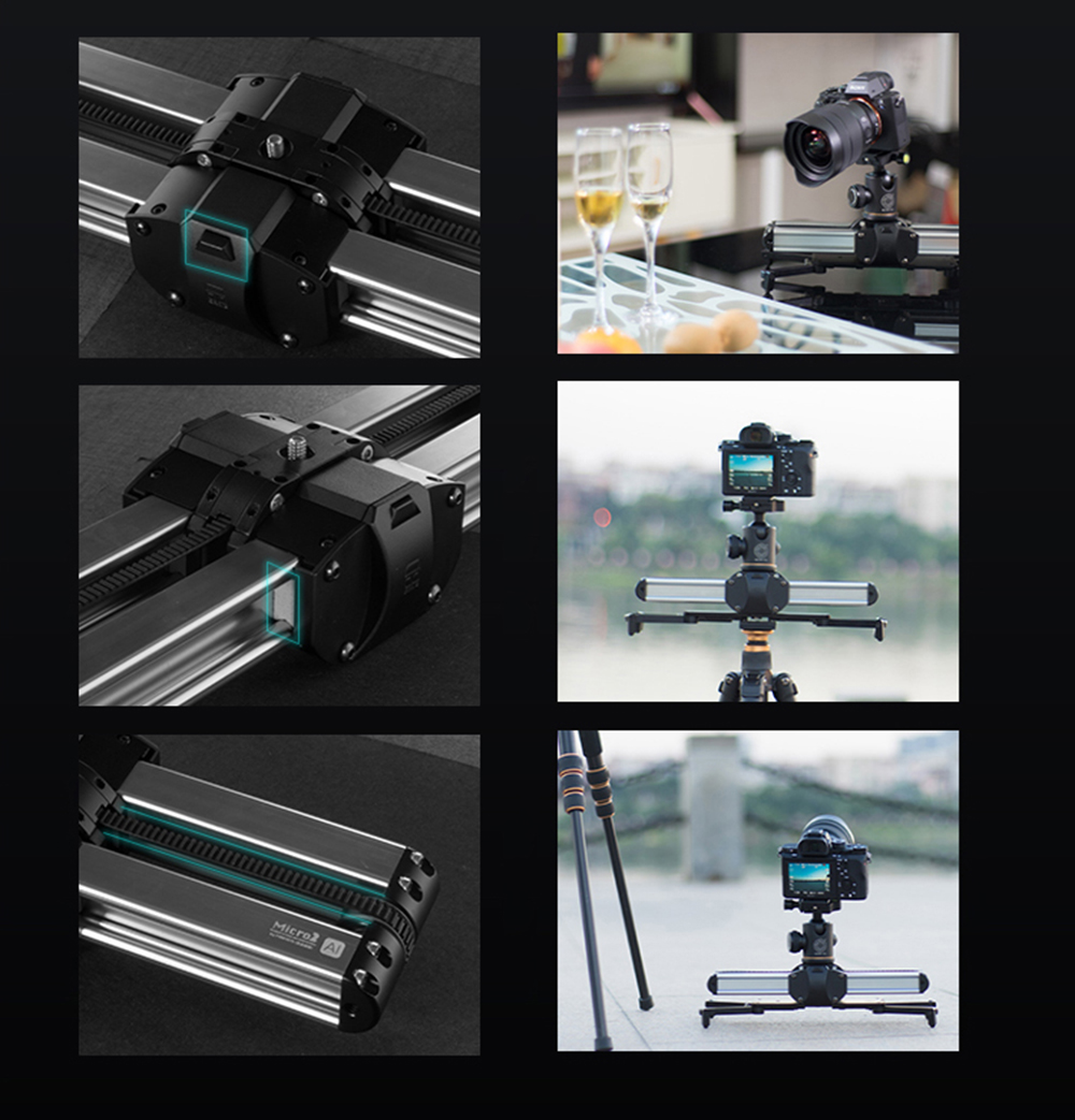 Portable Micro 2 Professional Camera Video Slider Travel Track Slider Dolly Track Rail for DSLR ARRI Mini RED BMCC  Iphone X 15