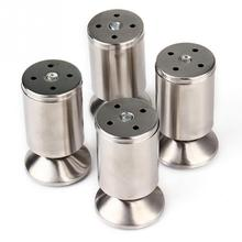 4pcs/pack Stainless Steel Kitchen Adjustable Feet Height Furniture Leg Silver