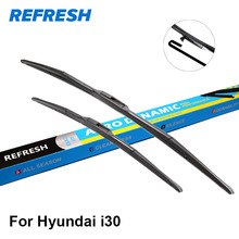 Refresh Wiper Blades for Hyundai i30 Fit Push Button Arms / Hook Arms Model Year from 2007 to 2017(China)