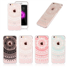 Silicone Case For iPhone 6 6s Cover Transparent Mandala TPU Gel Cell Phone Bag Rubber Coque Etui For iPhone6 Plus 6Plus Capinha(China)