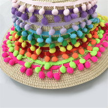 Hot Sale 20Yards/Lot 10Colors 10MM Pom Pom Trim Ball Fringe Ribbon DIY Sewing Accessory Lace Tassel Sewing Fabric For Home Party(China)