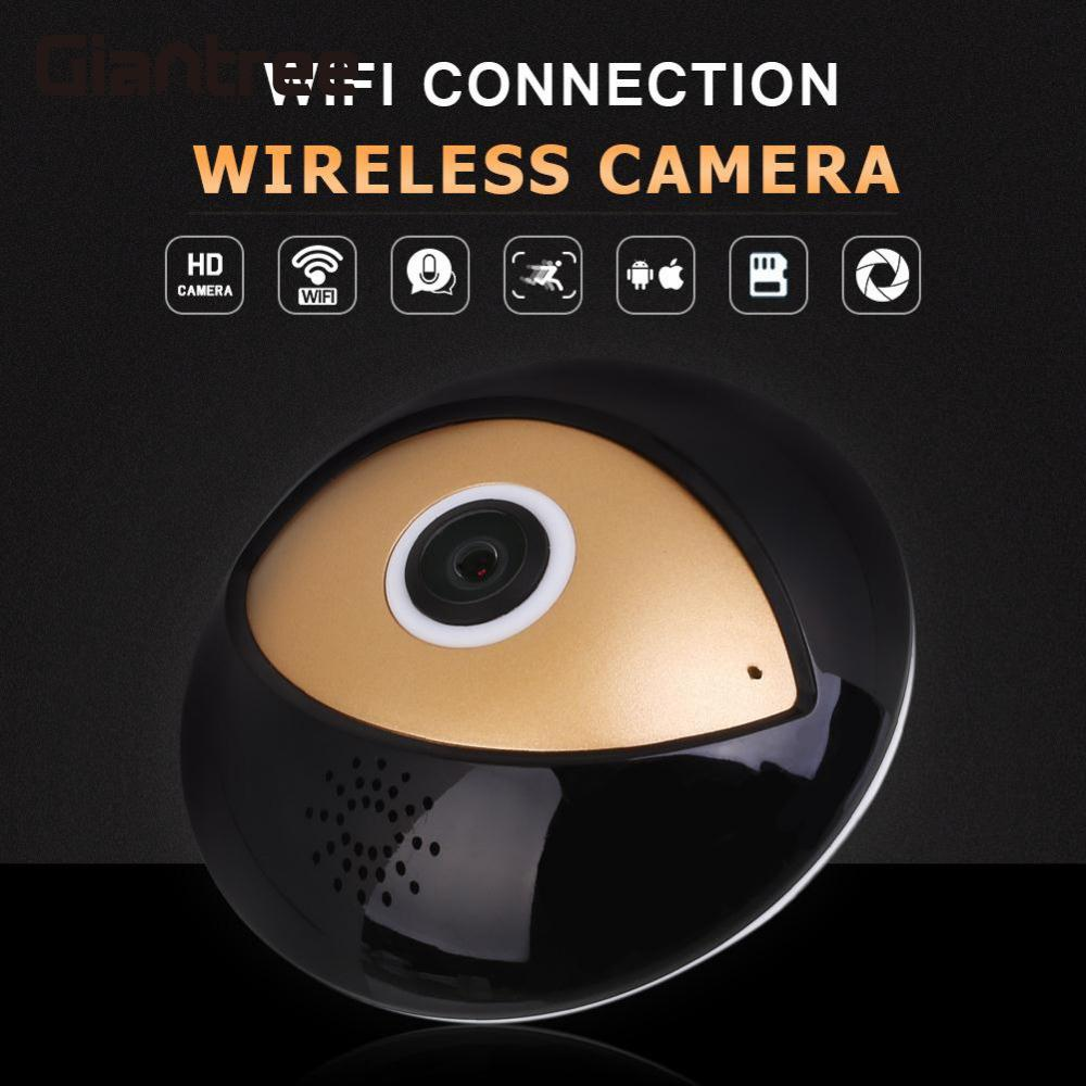 giantree 360 Degree Panoramic Fisheye HD WiFi Cam Network 5V 1A Home Security System 2 Way Audio Motion Detection VR IP Camera<br>