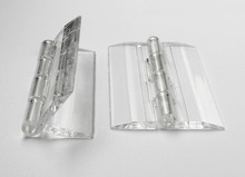 12Pcs/Lot H45*W35*T3mm Transparent Clear Acrylic Hinge(China)