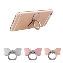 Universal 360 Degree Finger Ring Mobile Phone Stand Holder For iPhone all Smart Phone Cute bow kont design Mount Holder 3 Colors
