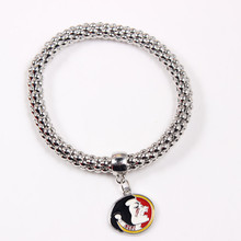 6Pcs/lot University of Florida State Seminoles Endless Bracelets Enamel Pendant Charms Bangles Best Gifts NCAA Women Men Fans