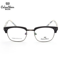 COLOMNIAO alloy half frame glasses frame Cellulose acetate men women multi-color glasses frames myopia clear glasses JK6006