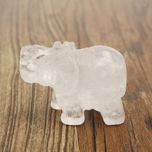 Excellent White Crystal Elephant Figurines Paperweight Crafts Ar Collection Souvenir Birthday Wedding Gifts Home Office Decor