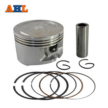 AHL Bore Size 69.5mm +50 Motorcycle Piston Kit Pin Rings and Clips Set for YAMAHA YP250 YP 250 Oversize 0.5mm(China)