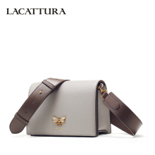 Buy LACATTURA Women Messenger Bags Designer Small Flap Handbag Women Split Leather Shoulder Bag Crossbody Lady Fashion Purse for $38.50 in AliExpress store