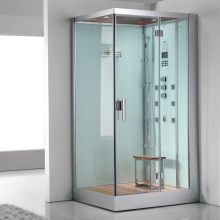 2017 new design luxury steam shower enclosures bathroom steam shower cabins jetted massage walking-in sauna rooms ASTS1060(China)