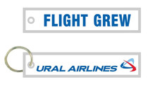 Ural Airlines Flight Crew Fabric Embroidery Keychain Key FOB Aviation Motorcycle Pilot Crew