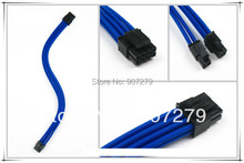 WinfMOD CPU 8PIN three braid extension power core/cable 18AWG with Blue sleeving --- 4P+4P