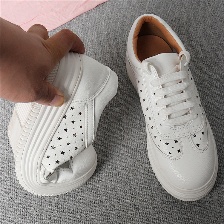 17 Women White Shoes Autumn Winter Soft Comfortable Casual Shoes Flats Platform Sneakers Real Leather Shoes Sapato Feminino 19