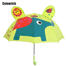 Baby Elephant Cartoon Patterns Umbrellas Kids Kindergarten Children Paraguas Parasol Lovely Boys Girls Umbrellla Umbrella-019(China)
