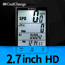 CoolChange Wireless Bike Computer Speedometer Odometer Rainproof Cycling Bicycle Computer Bike Measurable temperature Stopwatch(China)
