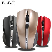 BinFul New usb 2.4G Wireless Mouse 6 Buttons silent mute noiseless Optical Mouse Gaming mouse for Laptop Computer Mice(China)