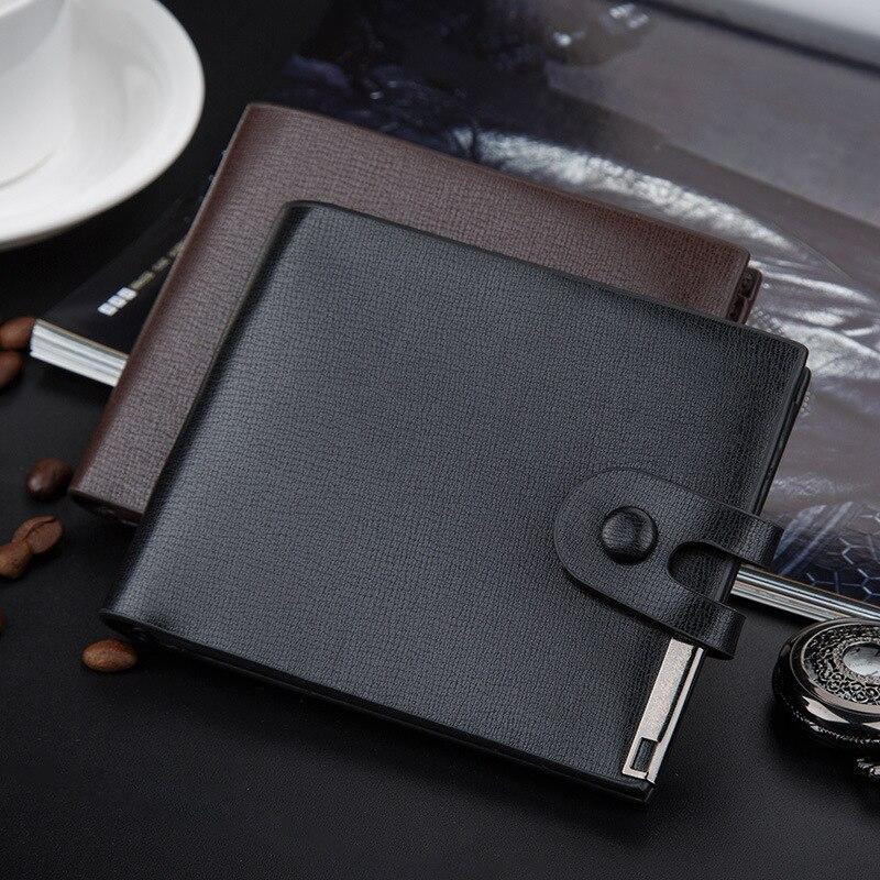 New 2016 men wallets famous brand mens wallet male leather purse card cash Splicing Lock holder bifold wallet purse pocket<br><br>Aliexpress