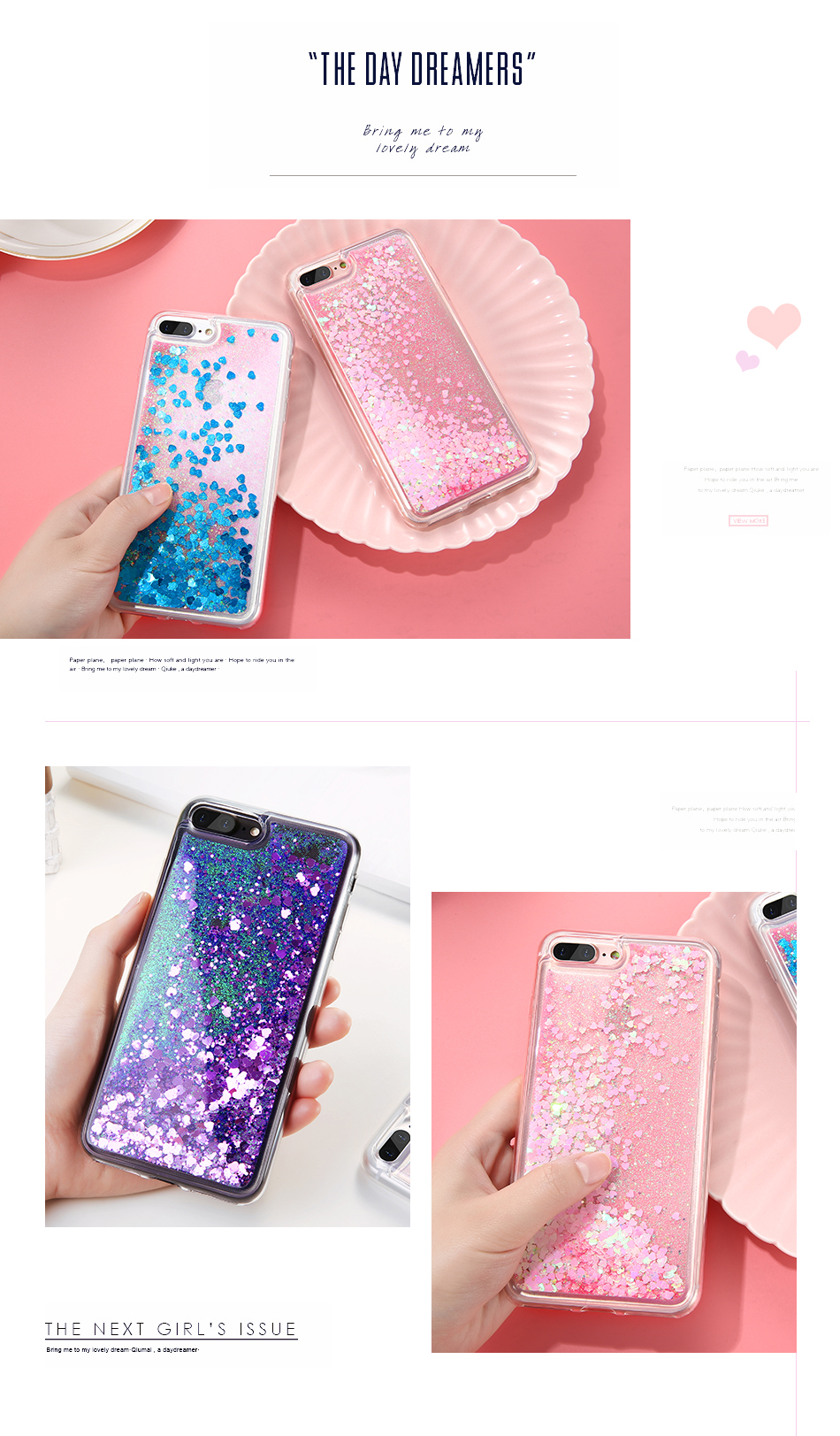 DOEES Bling Liquid Quicksand Phone Case For iPhone 7 7 Plus Shiny Sequin Soft Silicone Case Cover For iPhone 5 5S SE 6 6s Plus (4)