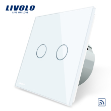 Livolo Led-Indicator Glass-Panel Wall-Light Remote-Touch-Switch Standard Crystal EU C702r-1/2/3/5