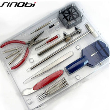 SINOBI Watch Tools 16 PCS Watch Repair Tool Kit DIY Diagnostic Tool Spare Parts For Watches Clock Tool horloge gereedschap(China)