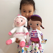Free Shipping 1set 35cm 13.7'' Original Doc McStuffins plush toys,Dottie girl and McStuffin Lambie sheep plush for Children gift