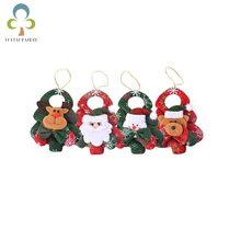4pcs/set New Christmas tree pendant Christmas family party decorations door pendant home decoration items LYQ(China)