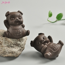 Jia-Gui Luo Violet arenaceous lucky pig pet creative mini pet boutique tea tea accessories provide manual picking tea