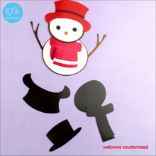 Magnetic puzzle series 2 styles DIY Variety fashion dressup christmas snowman with magnetic function PUZZLZE(China)